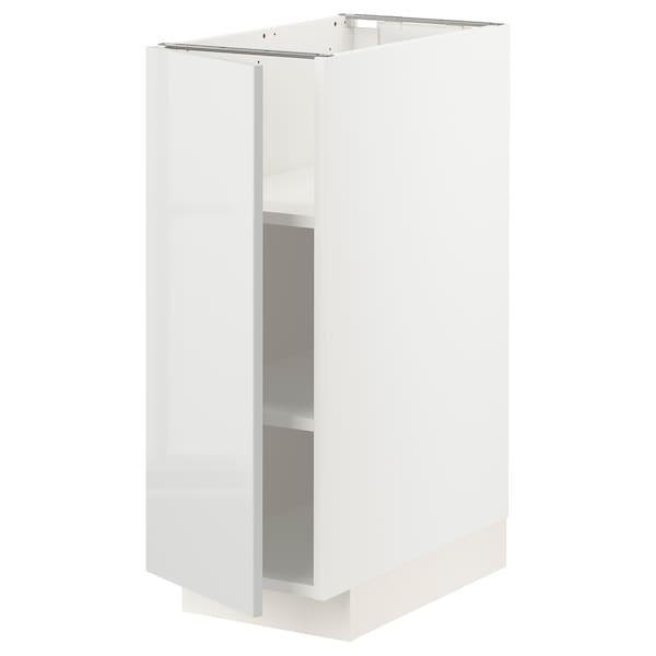 METOD خزانة قاعدة مع أرفف, أبيض/Ringhult رمادي فاتح, 30x60 سم
