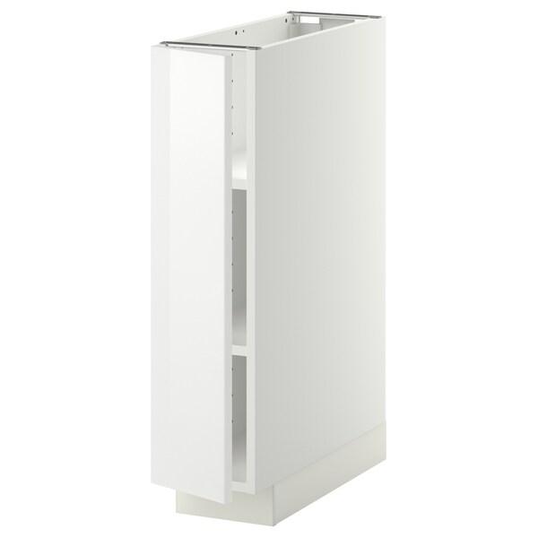 METOD خزانة قاعدة مع أرفف, أبيض/Ringhult أبيض, 20x60 سم