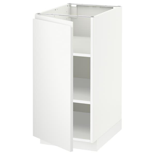METOD خزانة قاعدة مع أرفف, أبيض/Voxtorp أبيض مطفي, 40x60 سم