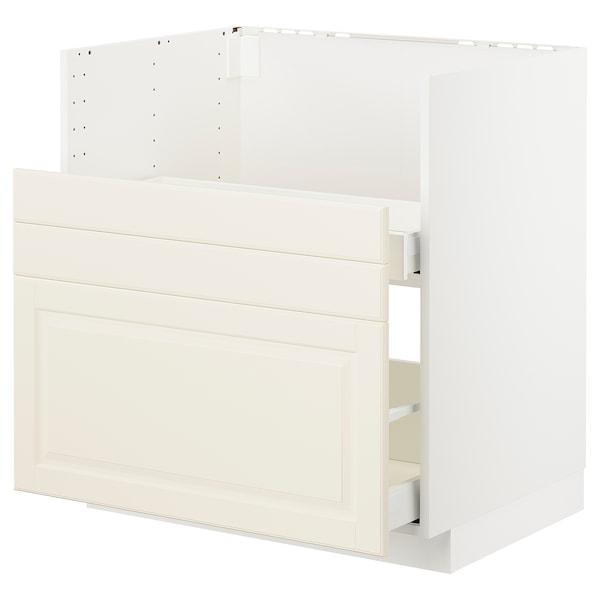 METOD Bc f BREDSJÖN sink/2 fronts/2 drws, white/Bodbyn off-white, 80x60 cm