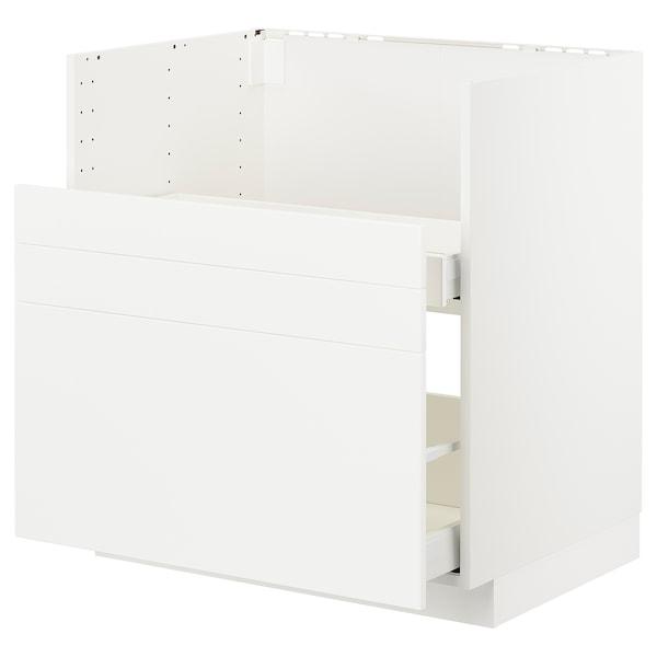 METOD Bc f BREDSJÖN sink/2 fronts/2 drws, white/Veddinge white, 80x60 cm