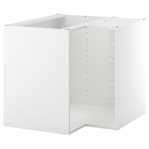 METOD اطار خزانة قاعدة زاوية, أبيض, 88x88x80 سم
