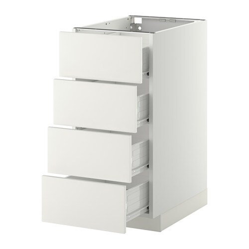 Metod f rvara base cab 4 frnts 4 drawers white for Meuble 30 cm largeur