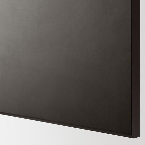 METOD / MAXIMERA خ. قاعدة مع 2واجهات/3أدراج, أسود/Kungsbacka فحمي, 60x37 سم