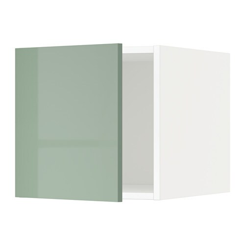 Metod Ikea metod top cabinet white kallarp high gloss light green ikea