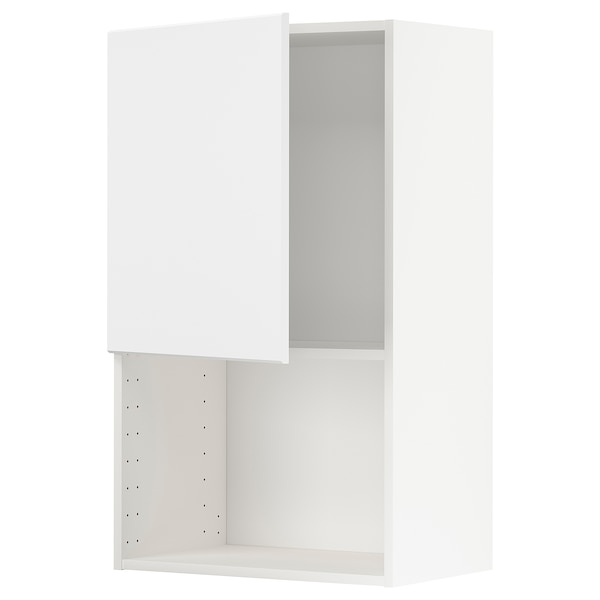 METOD Wall cabinet for microwave oven, white/Kungsbacka anthracite, 60x100 cm
