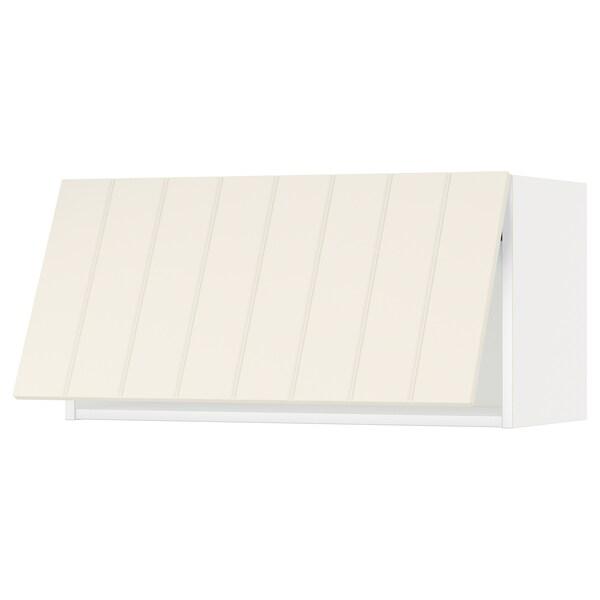 METOD خزانة حائط افقية, أبيض/Hittarp أبيض-عاجي, 80x40 سم