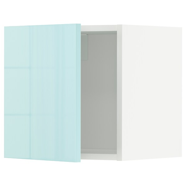 METOD Wall cabinet, white Järsta/high-gloss light turquoise, 40x40 cm