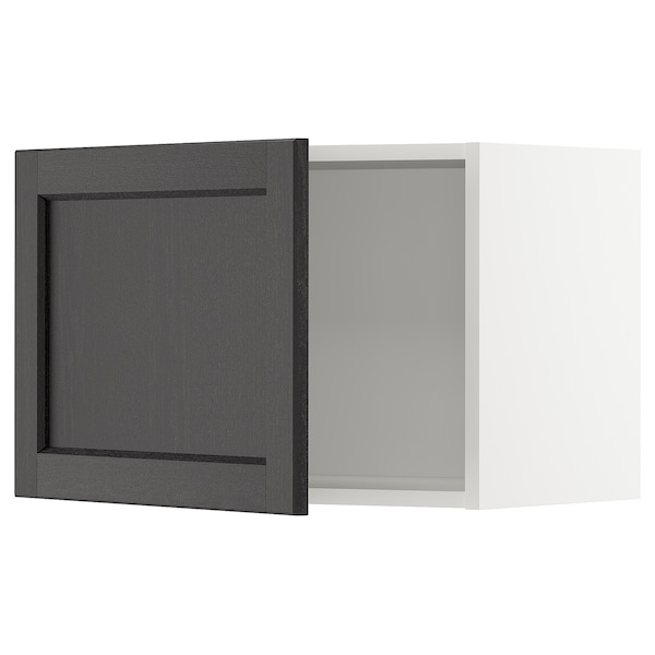 METOD Wall cabinet, white/Lerhyttan black stained, 60x40 cm