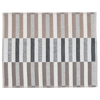MITTBIT Place mat, black beige/white, 45x35 cm