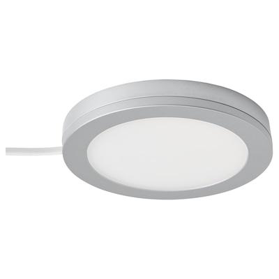 MITTLED LED spotlight, dimmable aluminium-colour