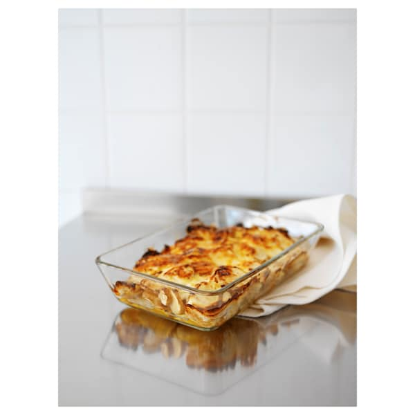 MIXTUR oven/serving dish clear glass 35 cm 25 cm
