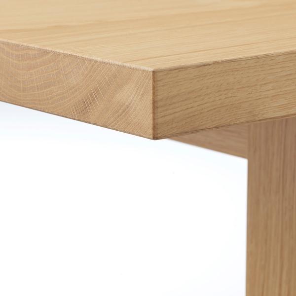 MÖCKELBY / HENRIKSDAL Table and 6 chairs, oak dark brown/Blekinge white, 235x100 cm