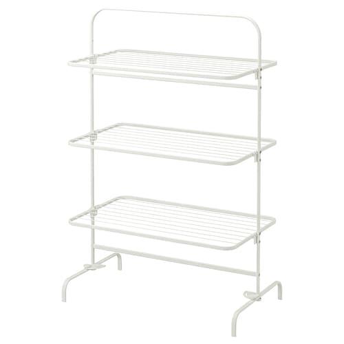 MULIG drying rack 3 levels, in/outdoor white 99 cm 58 cm 152 cm