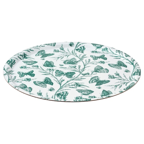 MUSTIGHET tray butterfly patterned 43 cm