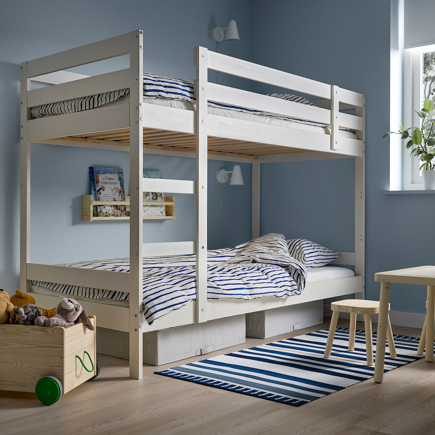 Picture of: Buy Mydal Bunk Bed Frame White Online Qatar Ikea