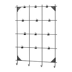 MYRHEDEN memo board with clips, black