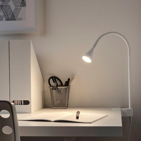 NÄVLINGE LED wall/clamp spotlight, white