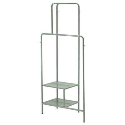 NIKKEBY Clothes rack, grey-green, 80x170 cm