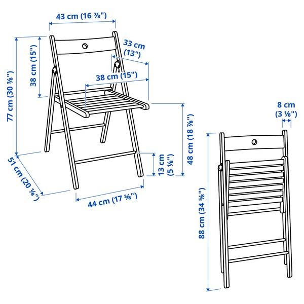 NORDEN / TERJE طاولة و عدد 2 كرسي يطوى, أبيض/أبيض, 26/89/152 سم