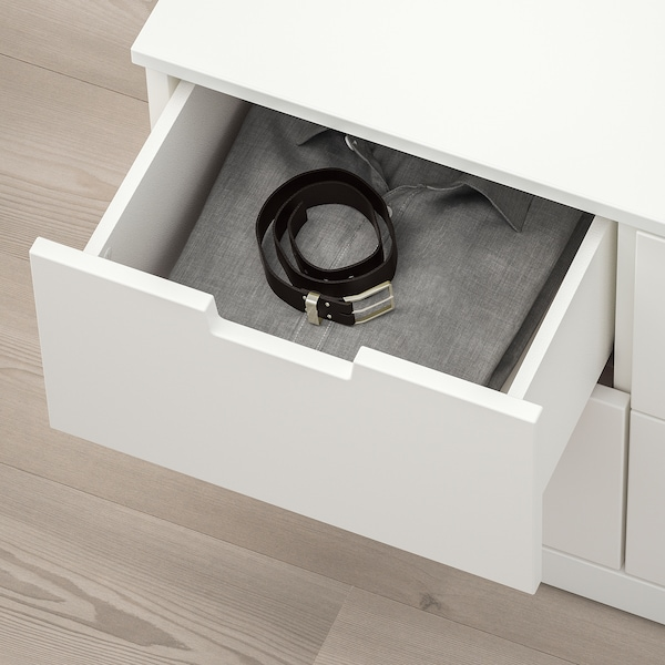 NORDLI Chest of 6 drawers, white, 120x54 cm
