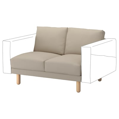 NORSBORG 2-seat section, Edum beige/birch