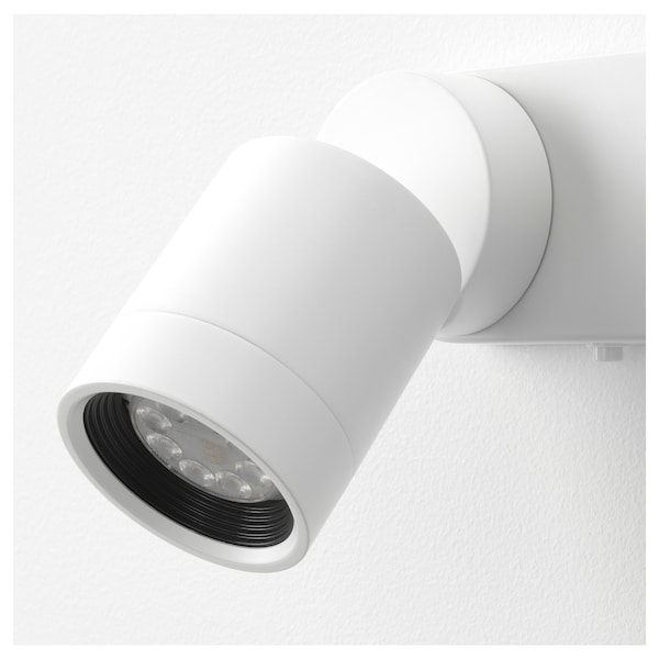 NYMÅNE Wall lamp double, wired-in, white