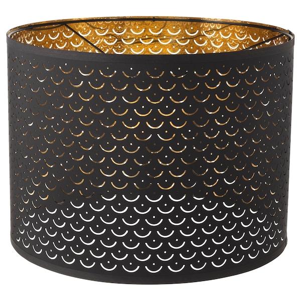 NYMÖ Lamp shade, black/brass-colour, 44 cm