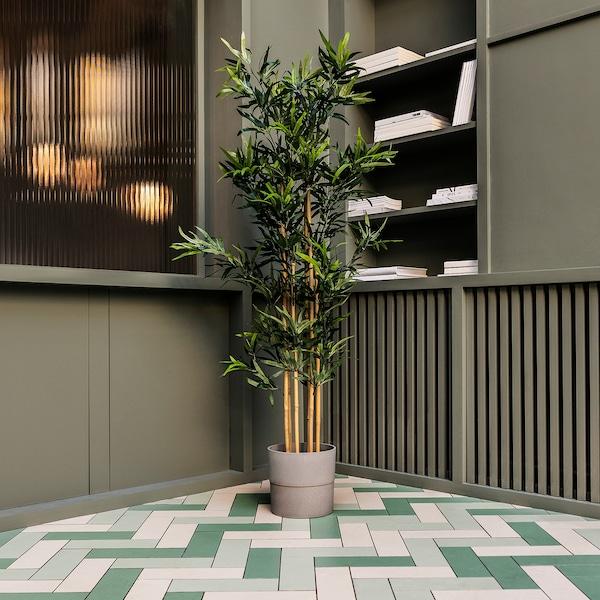 NYPON plant pot in/outdoor grey 24 cm 26 cm 24 cm 25 cm