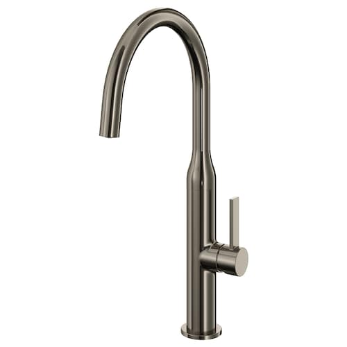 NYVATTNET kitchen mixer tap black polished metal 40 cm