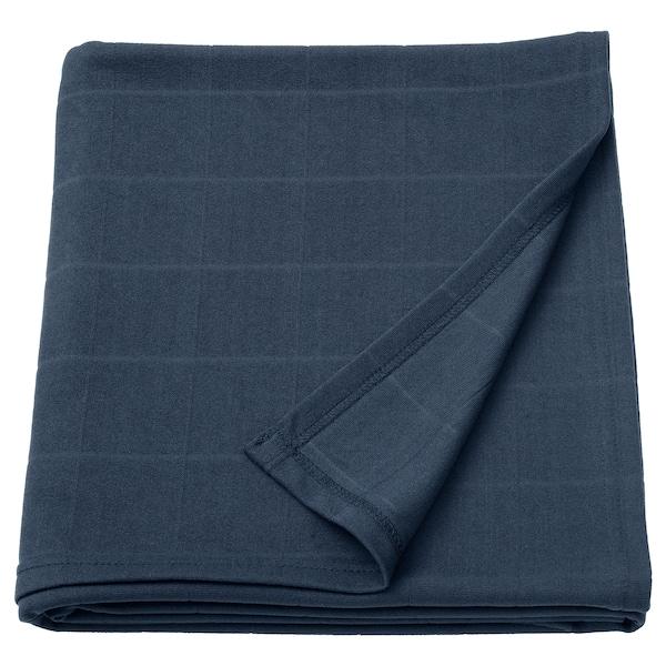ODDHILD throw dark blue 170 cm 120 cm