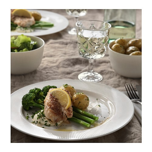 OFANTLIGT Plate IKEA OFANTLIGT dinnerware is a modern classic with elegant features and a colour that makes it easy to combine with other porcelain.