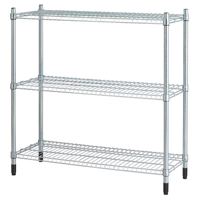 OLAUS Shelving unit, galvanised, 92x36x94 cm