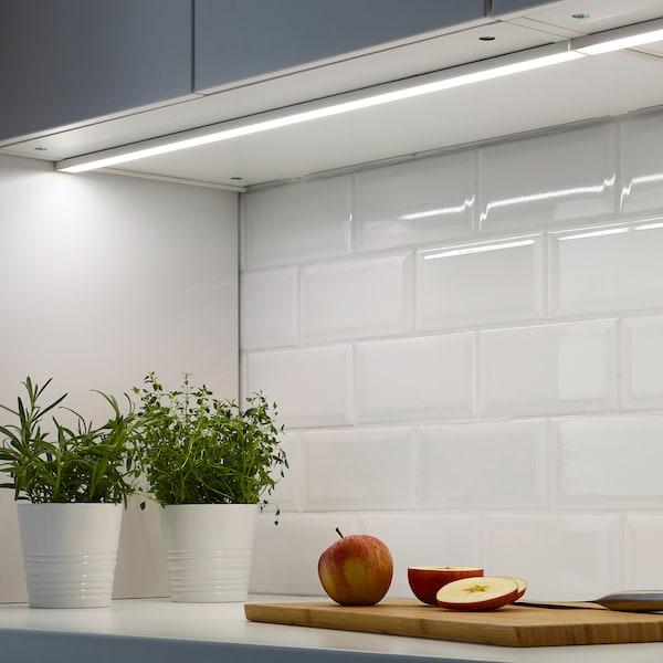 OMLOPP LED worktop lighting white 400 lm 80 cm 2.6 cm 1 cm 3.5 m 7.4 W