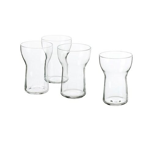 OMTÄNKSAM glass clear glass 13 cm 35 cl 4 pack