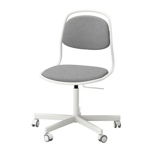 214 Rfj 196 Ll Sporren Swivel Chair White Vissle Light Grey