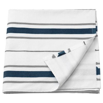 OTTSJÖN منشفة حمّام, أبيض/أزرق, 70x140 سم
