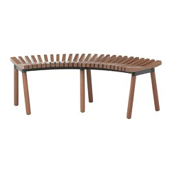 ÖVERALLT bench, outdoor light brown