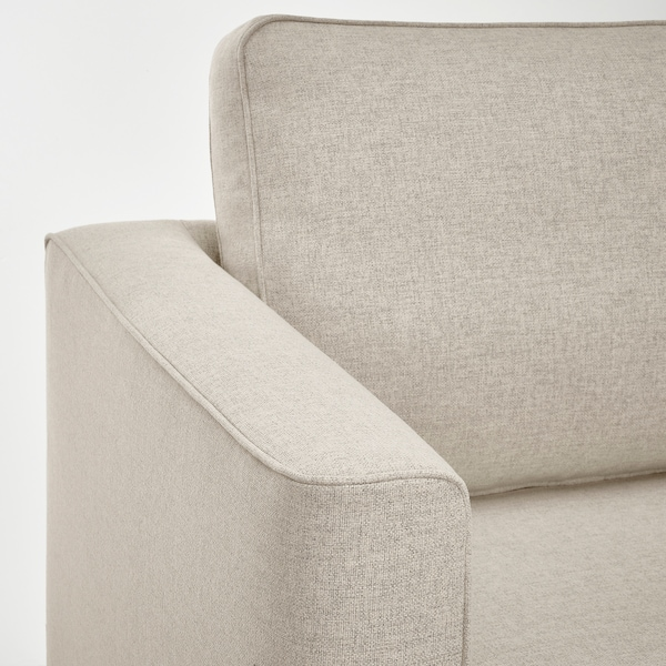 PÄRUP 3-seat sofa with chaise longue, Gunnared beige