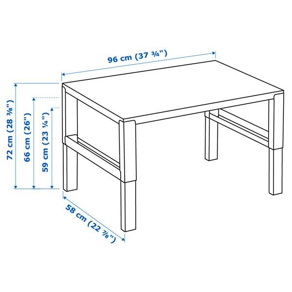 PÅHL مكتب, أبيض/أزرق, 96x58 سم