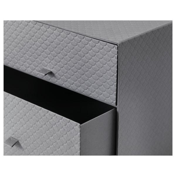 PALLRA Mini chest with 3 drawers, dark grey, 31x26x31 cm
