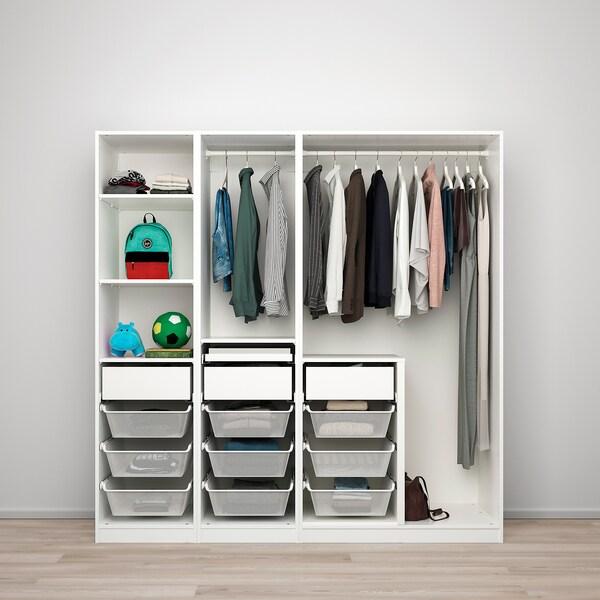 PAX / REINSVOLL Wardrobe combination, grey-beige, 200x66x201 cm