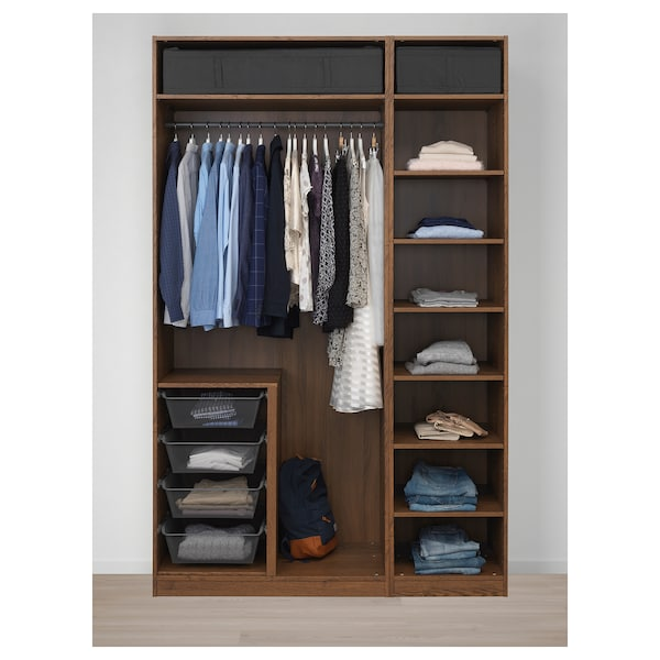 PAX wardrobe brown stained ash effect/Forsand brown stained ash effect 150.0 cm 60.0 cm 236.4 cm