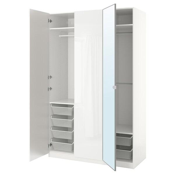 PAX wardrobe white/Fardal Vikedal 150 cm 60 cm 236.4 cm