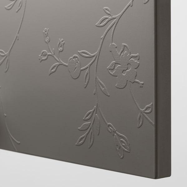 PAX wardrobe white/Flornes dark grey 200.0 cm 60.0 cm 236.4 cm