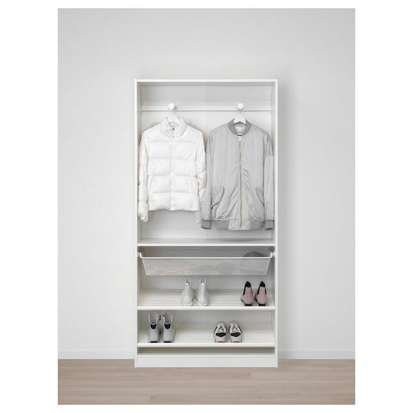 PAX wardrobe white/Forsand Vikedal 100.0 cm 38.0 cm 201.2 cm