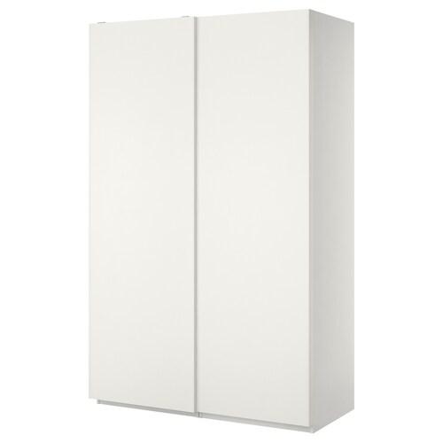 PAX wardrobe white/Hasvik white 150.0 cm 66.0 cm 236.4 cm