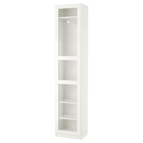 PAX wardrobe white/Tyssedal glass 49.8 cm 38.0 cm 236.4 cm