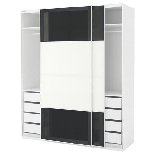 PAX wardrobe white/Uggdal Färvik 200 cm 66 cm 236.4 cm