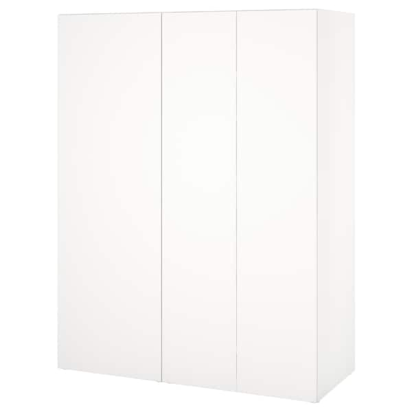 PLATSA دولاب ملابس, أبيض/Fonnes أبيض, 140x57x181 سم